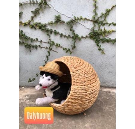 Nhà mèo lục bình tròn